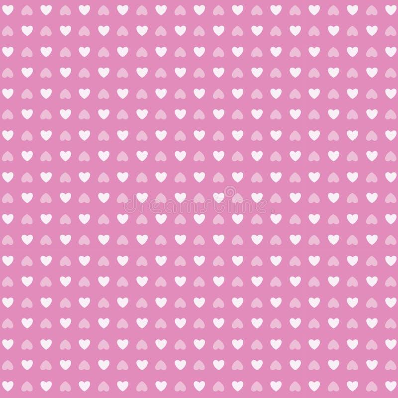 Modèle sans couture du jour de valentine d'amour de forme de coeur illustration stock