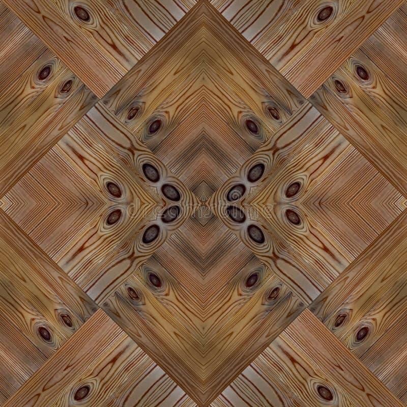Modèle sans couture en bois d'ornement de parquet photos libres de droits