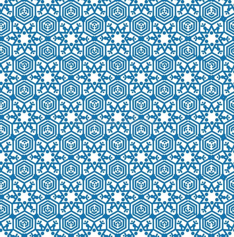 Modèle sans couture en cristal de neige géométrique abstraite de texture dans l'orie illustration libre de droits