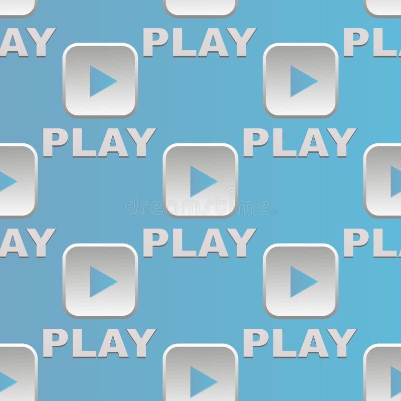 Modèle sans couture en ligne de site Web d'Internet de media de jeu de bouton d'interface d'UI illustration de vecteur