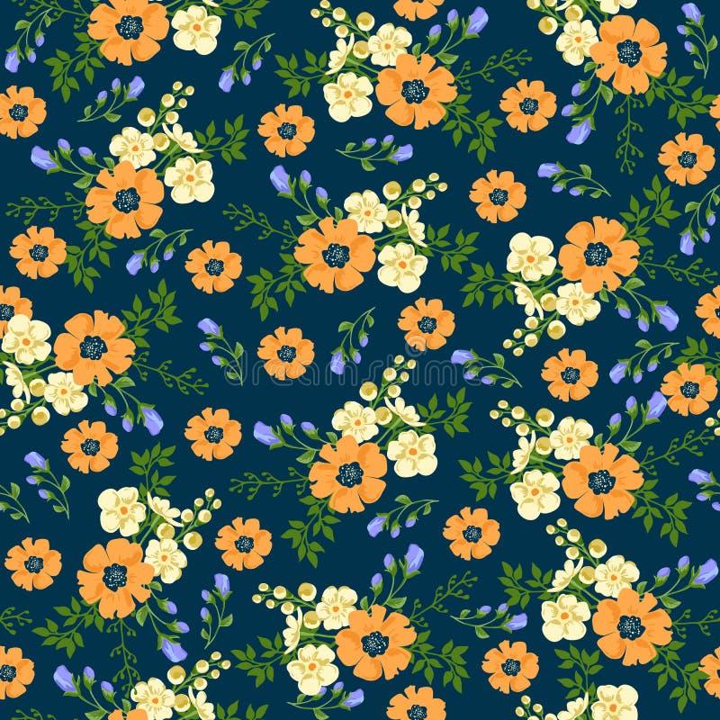 Modèle sans couture en petite fleur Copie romantique de fleur illustration stock