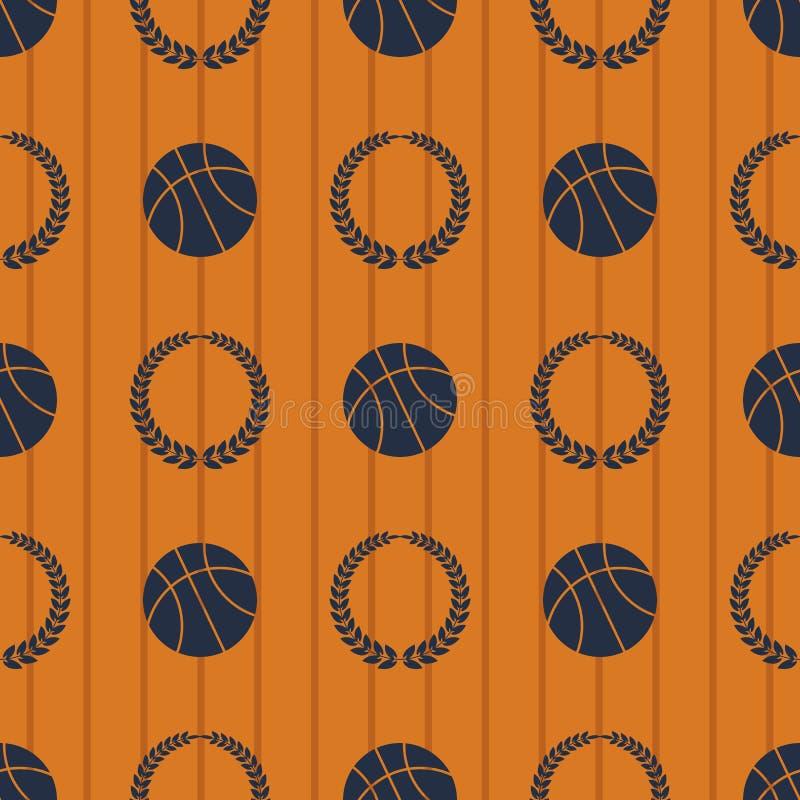 Modèle sans couture ENV 10 de sport de basket-ball illustration de vecteur