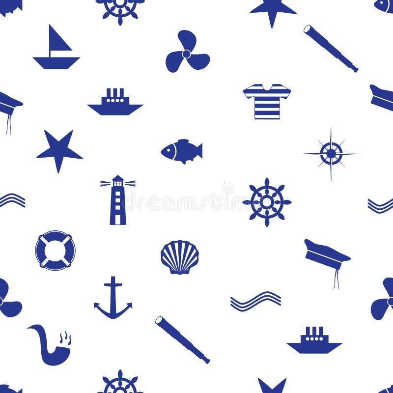 Modèle sans couture eps10 d'icône nautique illustration libre de droits