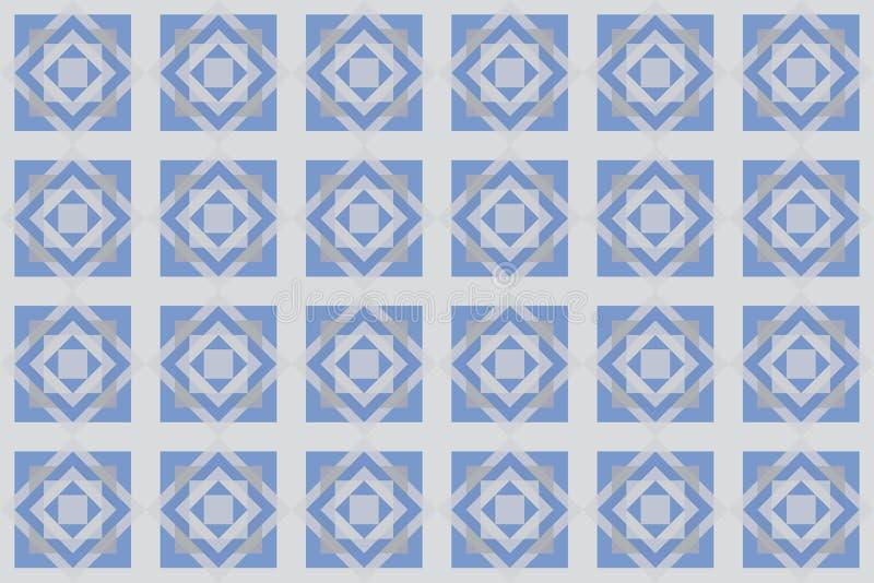 Modèle sans couture et abstrait de fond fait avec des formes carrées illustration libre de droits