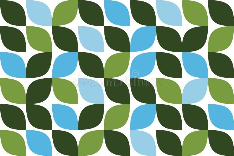 Modèle sans couture et abstrait de fond fait avec la feuille comme des formes géométriques illustration stock