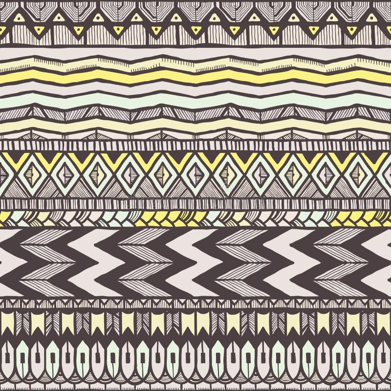 Modèle sans couture ethnique illustration stock