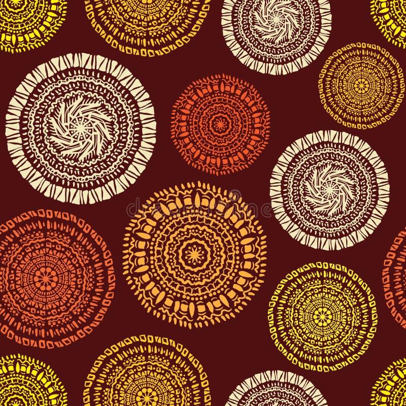 Modèle sans couture ethnique africain illustration libre de droits