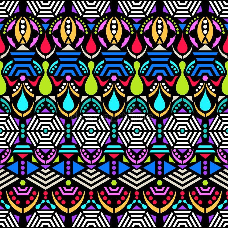 Modèle sans couture ethnique coloré illustration libre de droits