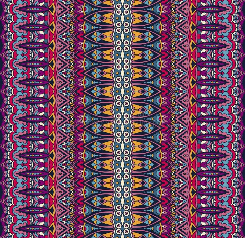 Modèle sans couture ethnique coloré rayé géométrique d'abrégé sur tribal cru ornemental illustration de vecteur