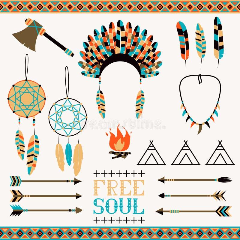 Modèle sans couture ethnique dans le style indigène illustration de vecteur