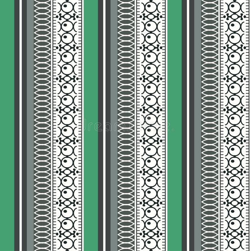 Modèle sans couture ethnique de résumé, illustration de vecteur, fond ornemental de cru Filigrane coloré multicolore vertical fle illustration stock