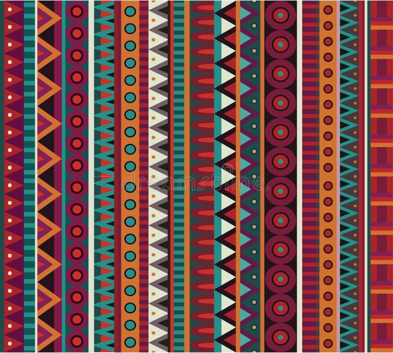 Modèle sans couture ethnique de vecteur abstrait illustration stock