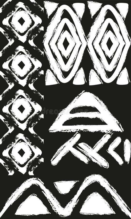 Modèle sans couture ethnique de vecteur avec l'Américain illustration de vecteur
