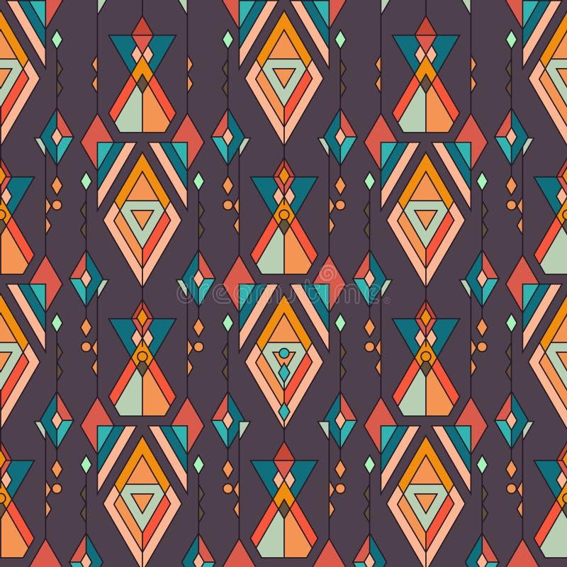 Modèle sans couture ethnique de vintage tribal Aztèque, Mexicain, Navajo, motif africain illustration libre de droits