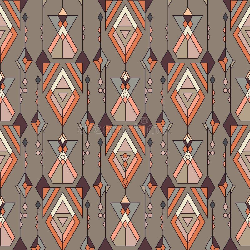 Modèle sans couture ethnique de vintage tribal Aztèque, Mexicain, Navajo, motif africain illustration stock
