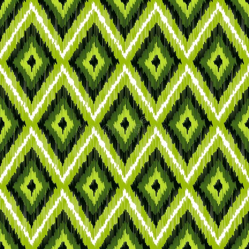 Modèle sans couture ethnique moderne abstrait de tissu illustration stock