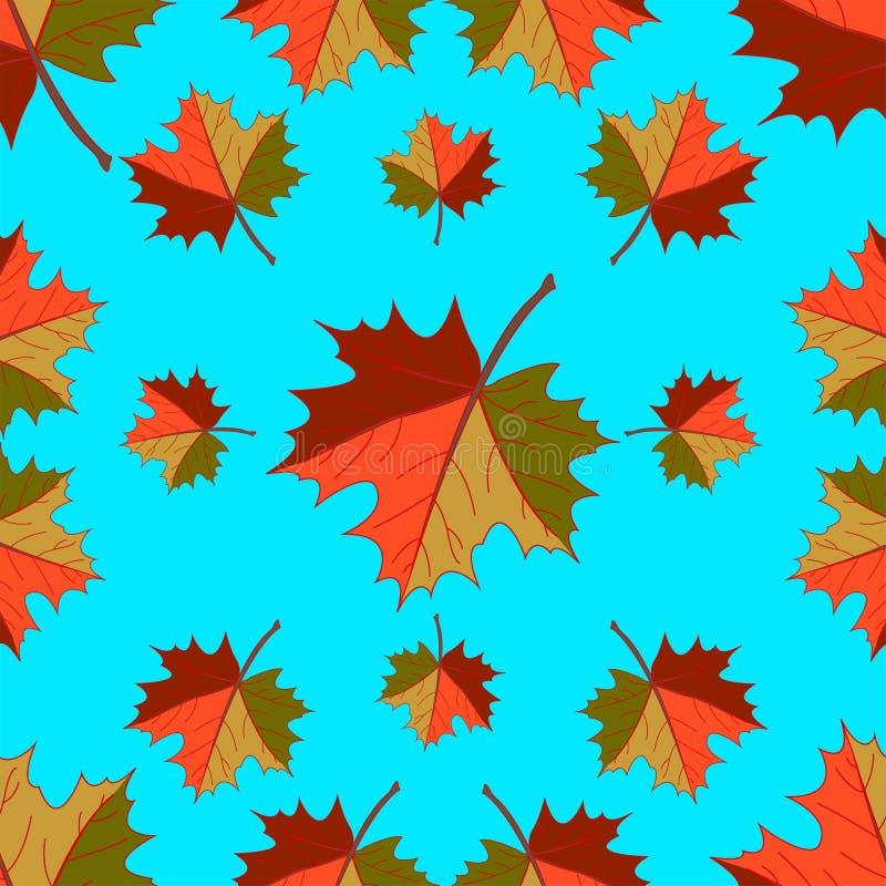 Modèle sans couture - feuilles en baisse d'automne illustration stock