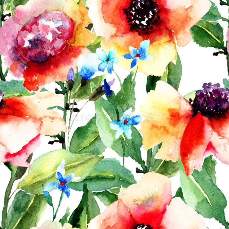 Modèle sans couture floral illustration de vecteur