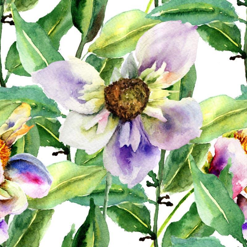 Modèle sans couture floral illustration stock