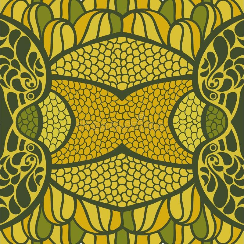 Modèle sans couture floral avec des fleurs illustration libre de droits