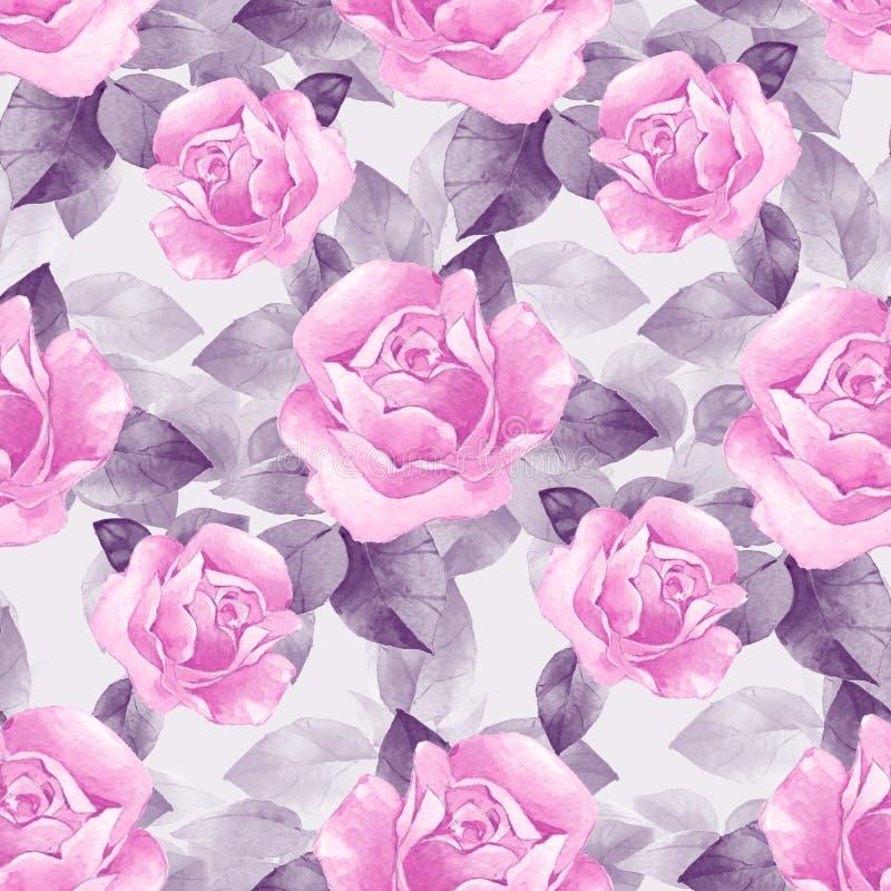 Modèle sans couture floral avec le beau RO illustration de vecteur