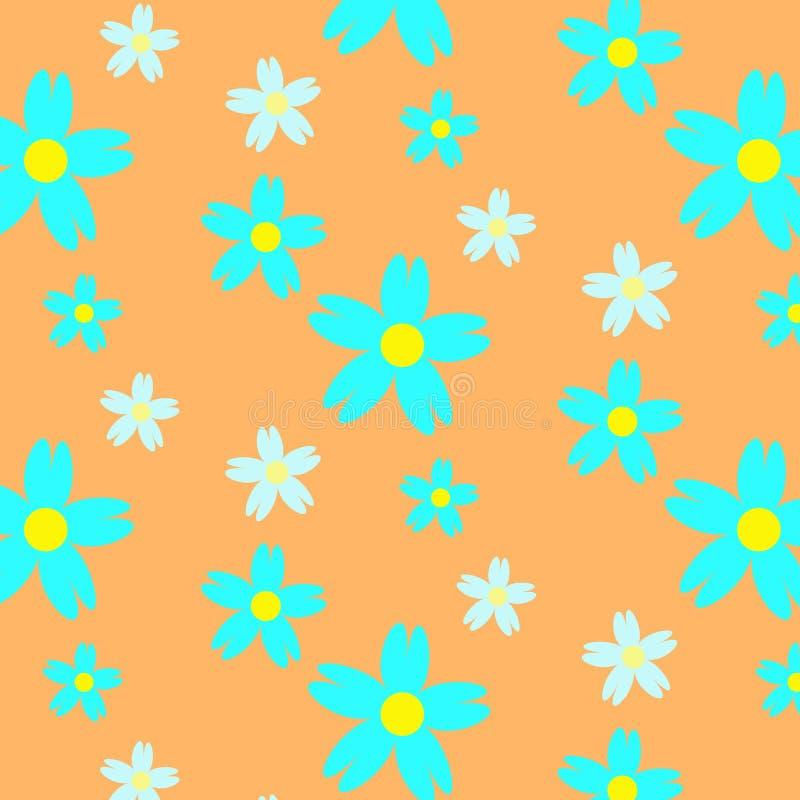 Modèle sans couture floral d'été d'Absract illustration libre de droits