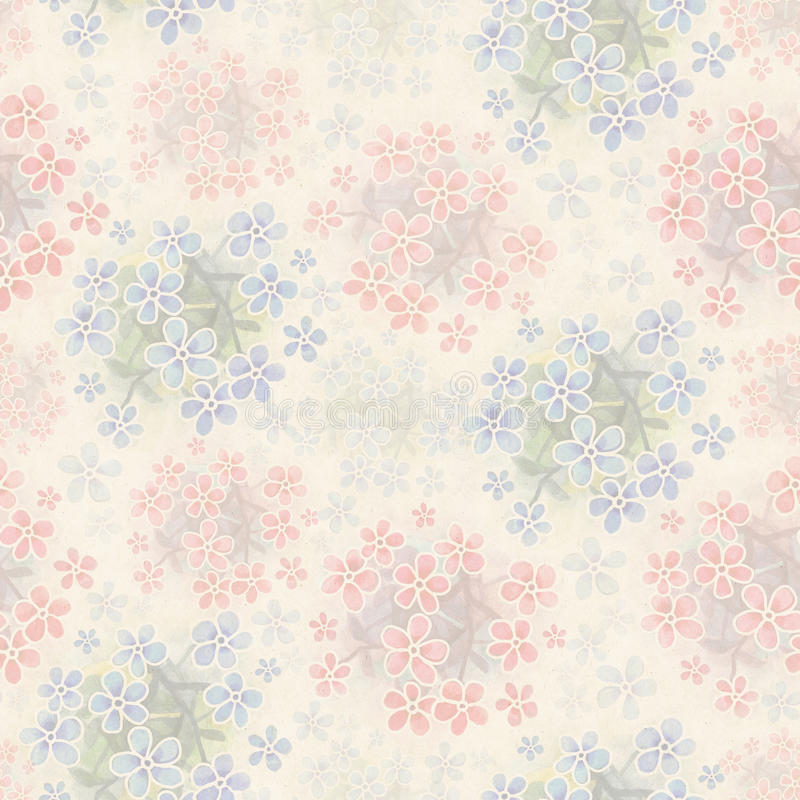 Modèle sans couture floral d'aquarelle illustration stock