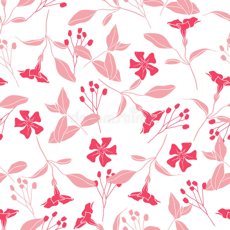 Modèle sans couture floral de vecteur d'été illustration de vecteur