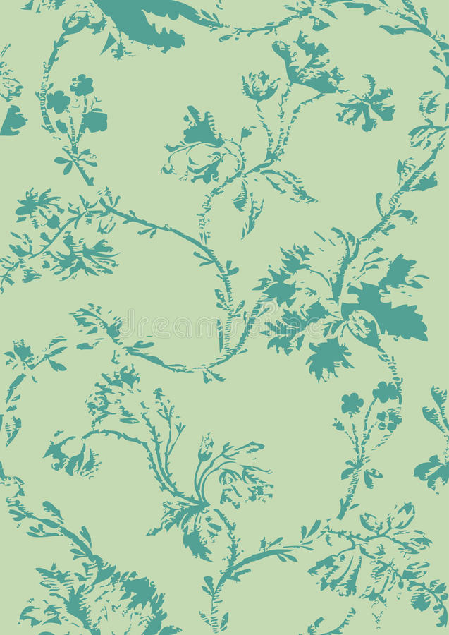 Modèle sans couture floral de vintage avec les pavots tirés par la main illustration stock