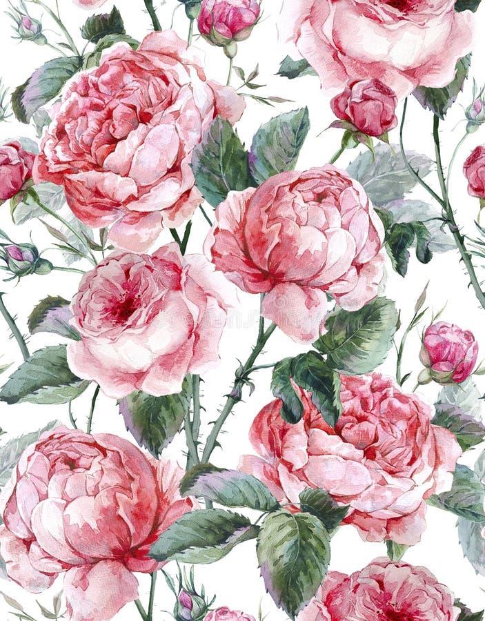 Modèle sans couture floral de vintage classique illustration stock