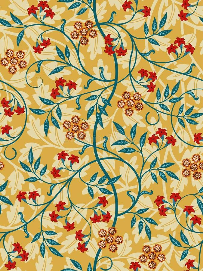 Modèle sans couture floral de vintage sur le fond clair Couleurs lumineuses Illustration de vecteur illustration de vecteur