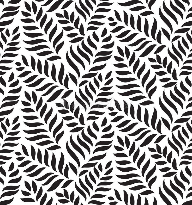 MODÈLE SANS COUTURE FLORAL MODERNE DE VECTEUR FOND DE FORME DE BAISSE FEUILLES À LA MODE MOTRICES illustration stock