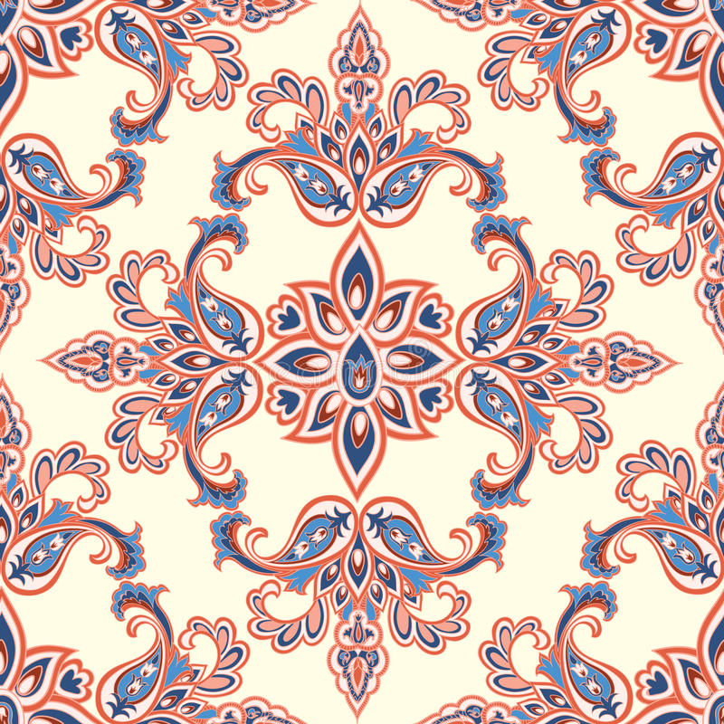 Modèle sans couture floral oriental Ba ornemental géométrique de fleur illustration stock
