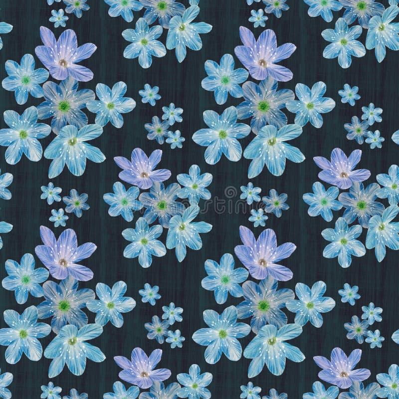 Modèle sans couture floral sur le fond abstrait illustration de vecteur