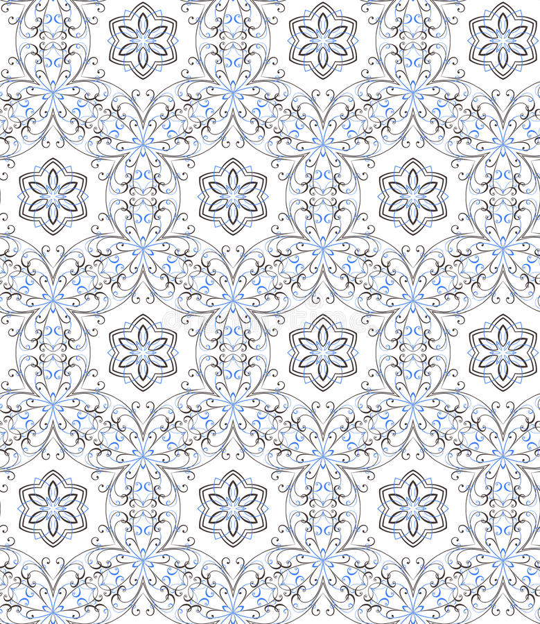 Modèle sans couture floral, vecteur illustration stock