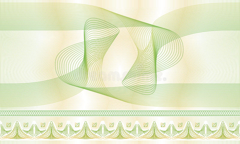 Modèle sans couture, fond, rosette décorative de guilloche pour des certificats ou diplômes photos stock