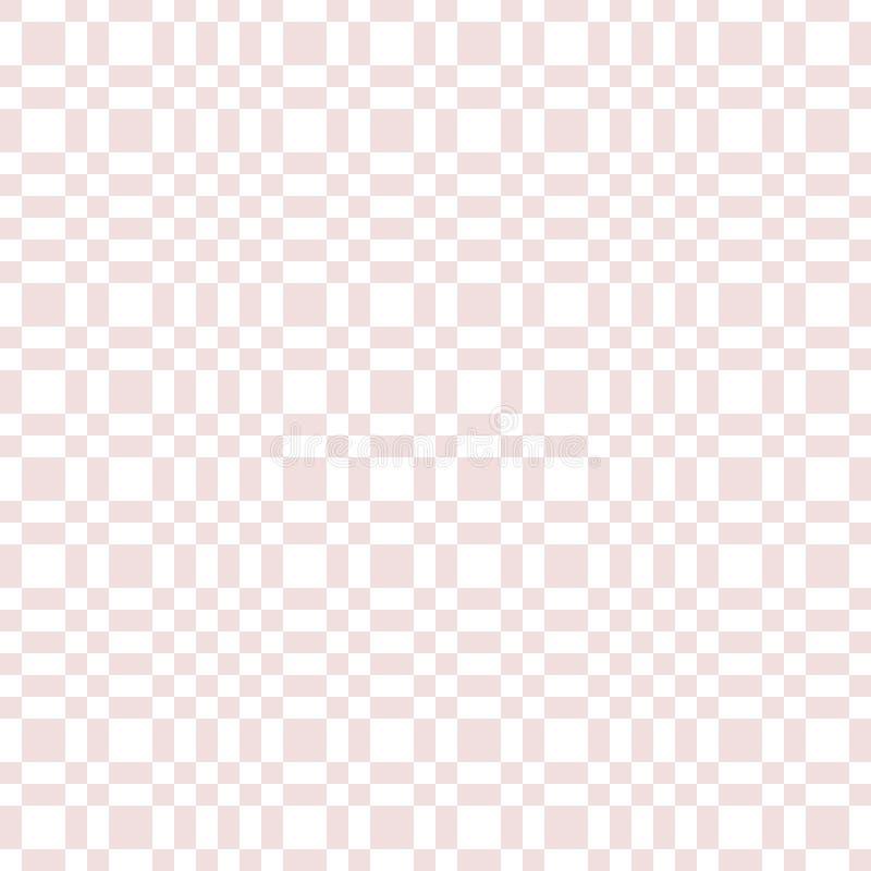 Modèle sans couture géométrique à carreaux de rose de vecteur et blanc subtil avec des places illustration de vecteur