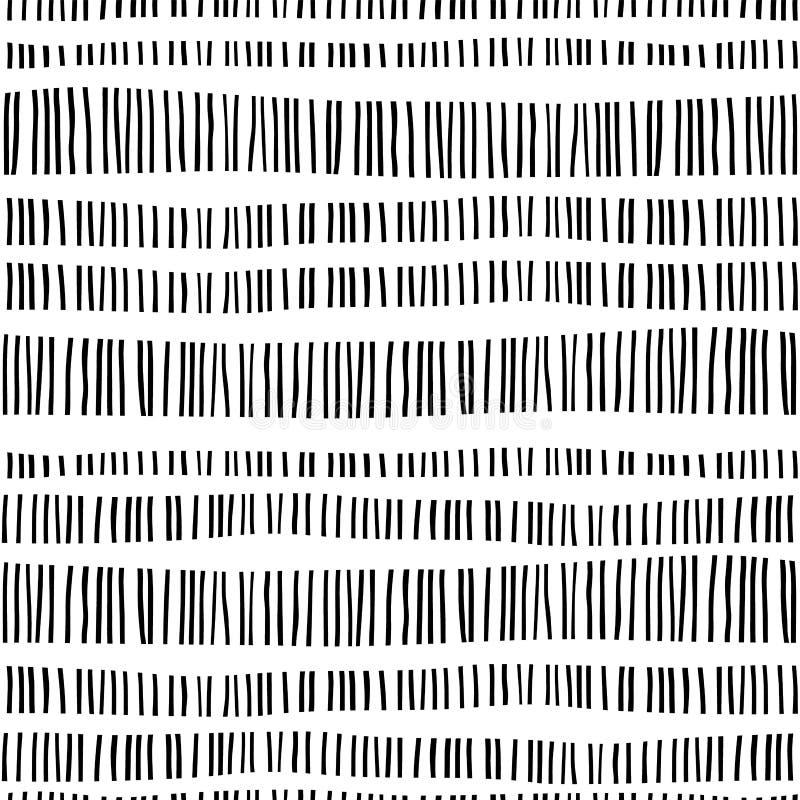 Modèle sans couture géométrique abstrait avec des rayures illustration libre de droits