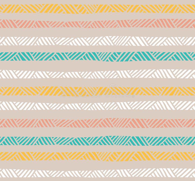 Modèle sans couture géométrique abstrait dans des couleurs en pastel illustration libre de droits