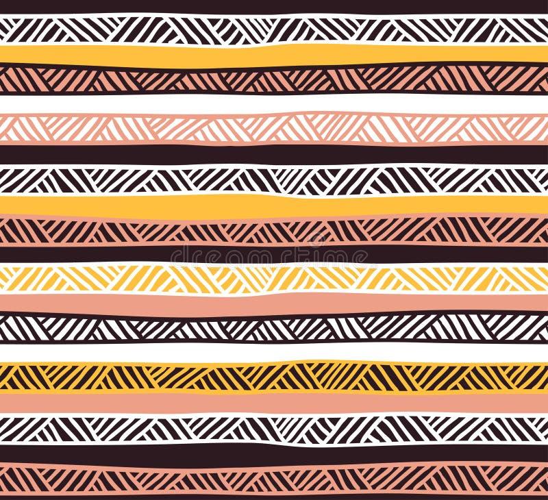 Modèle sans couture géométrique abstrait dans des couleurs en pastel illustration de vecteur