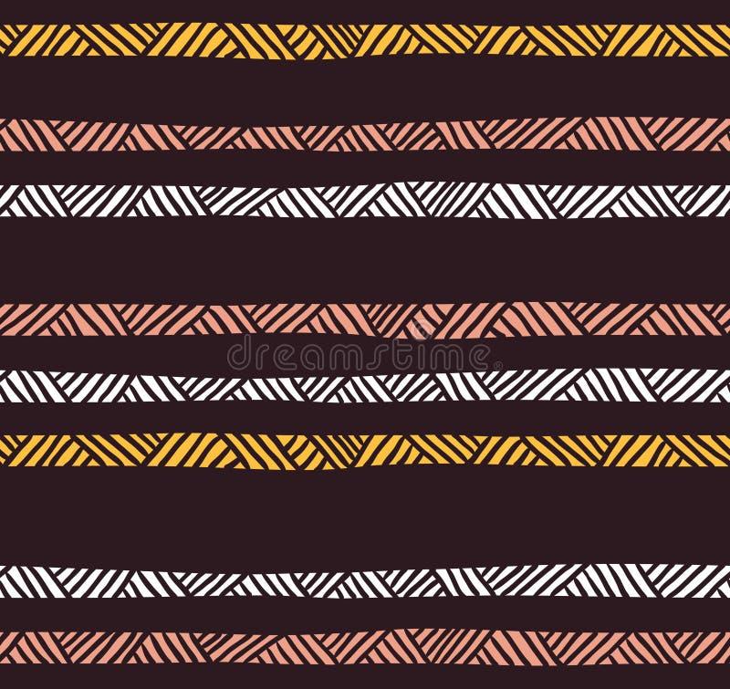 Modèle sans couture géométrique abstrait dans des couleurs en pastel Fond décoratif ethnique illustration stock