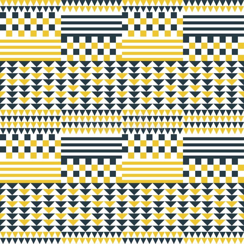Modèle sans couture géométrique abstrait de patchwork illustration stock