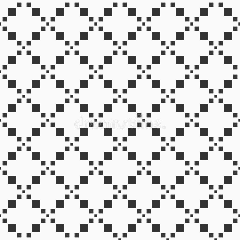 Modèle sans couture géométrique abstrait des places Formes de losanges de Pixelated illustration de vecteur