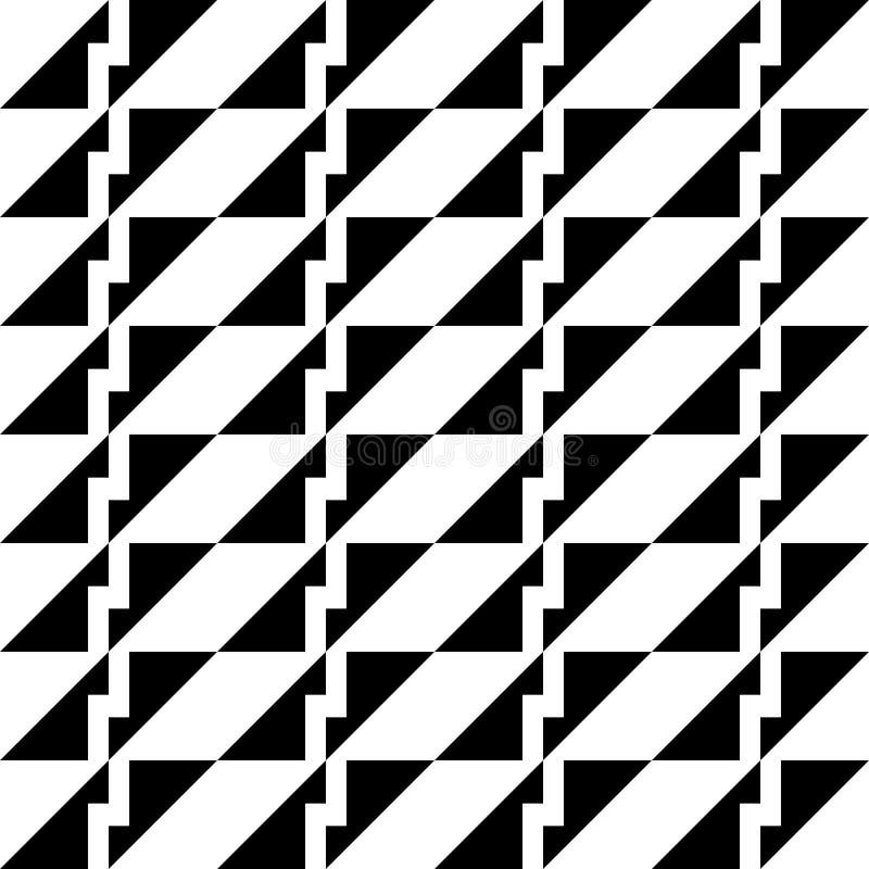 Modèle sans couture géométrique abstrait en noir et blanc, vecteur illustration stock