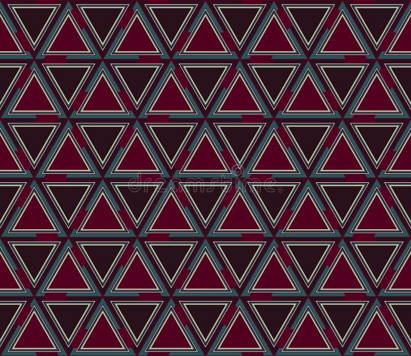 Modèle sans couture géométrique abstrait, fond Mosaïque graphique des triangles colorées illustration libre de droits