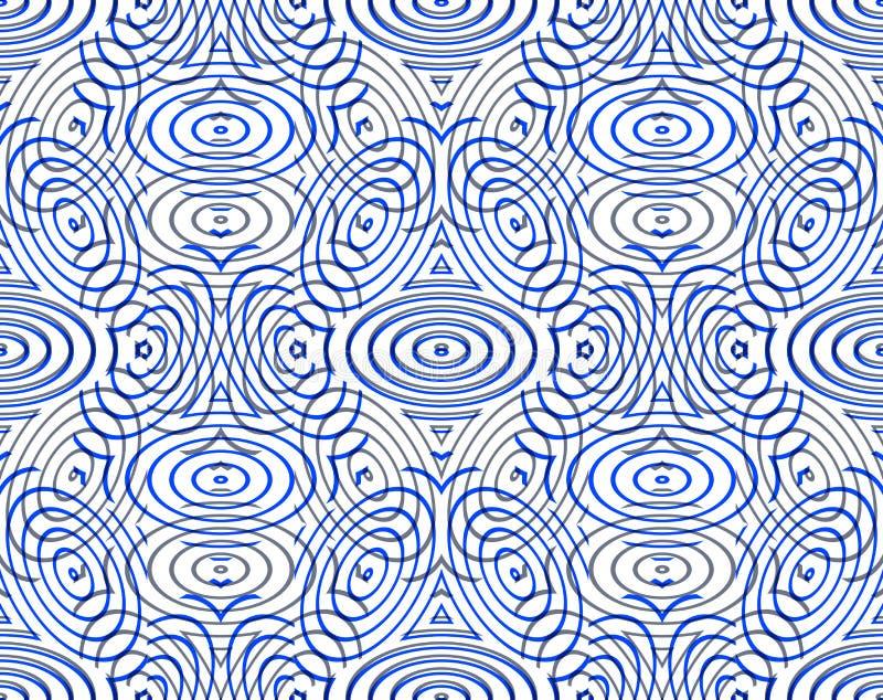 Modèle sans couture géométrique abstrait illusoire lumineux avec le geom 3d illustration stock