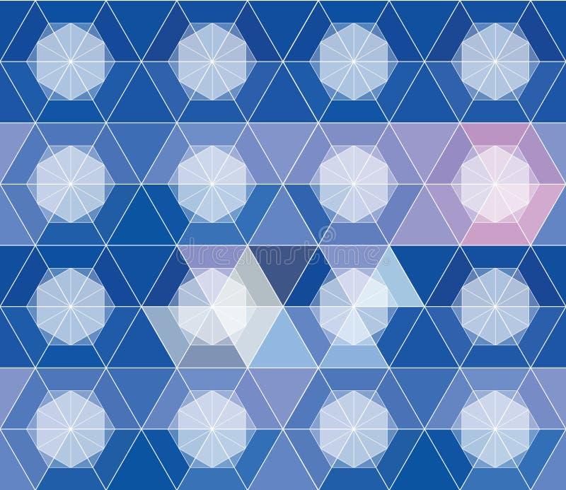 Modèle sans couture géométrique abstrait pour la conception illustration stock