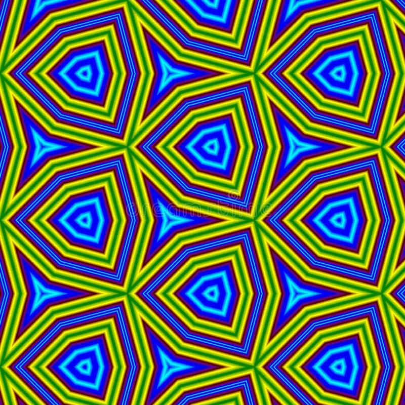 Modèle sans couture géométrique au néon, effet grunge illustration de vecteur