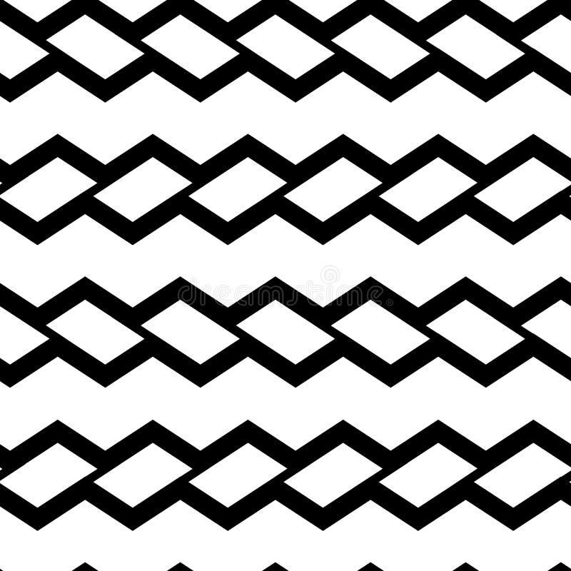 Modèle sans couture géométrique avec des rectangles noirs Illustration de vecteur illustration libre de droits