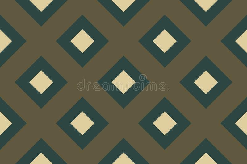 Modèle sans couture géométrique avec les lignes de intersection, grilles, cellules Fond entrecroisé dans le style traditionnel de illustration de vecteur